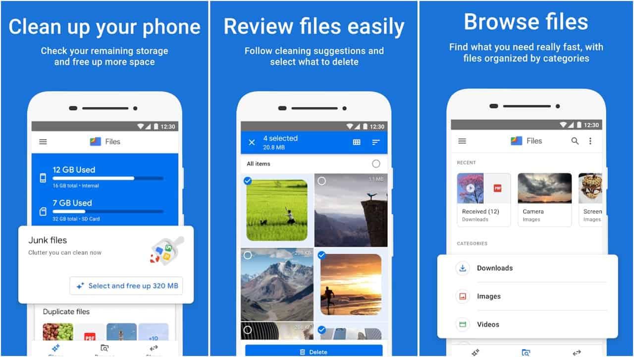 Файлы по сетке приложений Google
