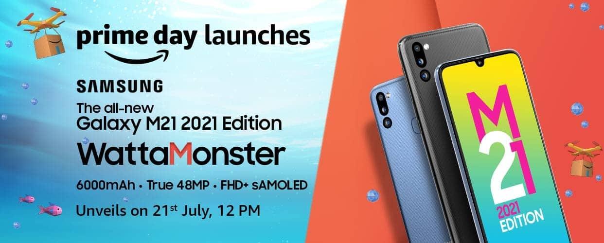 Плакат выпуска Galaxy M21 2021 Edition 1
