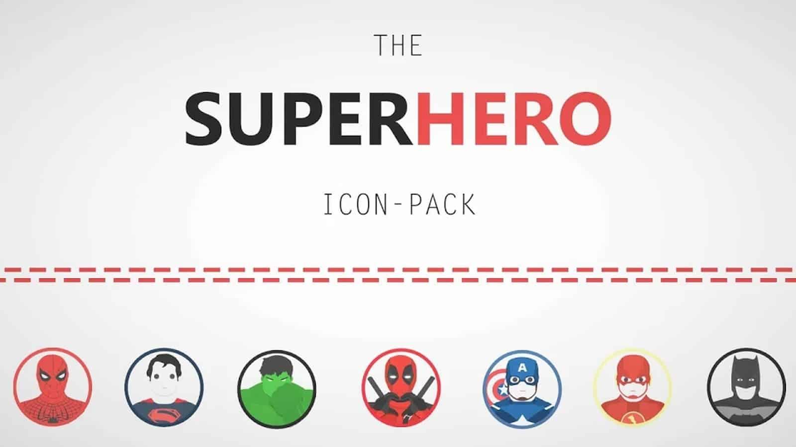 Пакет значков супергероя1